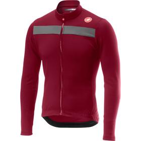 Castelli Puro 3 Full-Zip Jersey Hombre, matador red